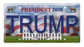Targa di immatricolazione 2016 di Trump Fotografia Stock Libera da Diritti