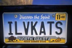 Targa di immatricolazione di vanità - Nord Dakota Immagini Stock Libere da Diritti
