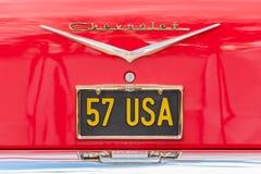 Targa di immatricolazione di Chevrolet Fotografie Stock
