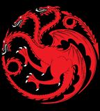 Targaryen house. Game of Thrones George R.R. Martin`s best-selling book series `A Song of Ice and Fire` is brought to the screen as HBO sinks its considerable vector illustration