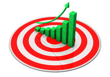 Targe Green Chart Stock Photo