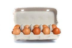 target278_1_ łamający kulinarnych obrazu jajek nietknięty postęp niektóre taca zdjęcie stock