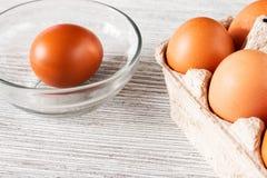 target278_1_ łamający kulinarnych obrazu jajek nietknięty postęp niektóre taca fotografia royalty free