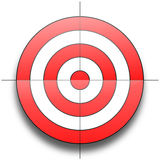 Target. Red and white round target isolated over white background Stock Illustration
