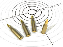 Target. Ammunition, white round target for shooting range stock illustration