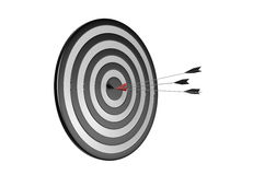 On Target. 3d image: One arrow on target Royalty Free Stock Images