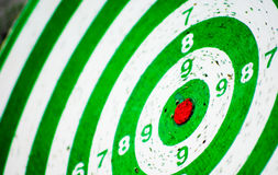 Target. Red target on dartboard, no hits stock photos