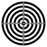Target. Black-white target pattern witn Stock Photography