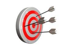 Target. Dart hits the bullseye of a target vector illustration
