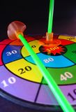 Target. Colored target, showing the numbers to aim Royalty Free Stock Photo