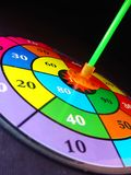 Target. Colored target, showing the numbers to aim Stock Photo