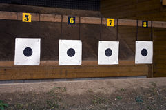 Target. Four target for automatic gun Royalty Free Stock Images