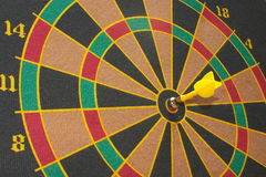 Target. With yellow arrow in the centre Royalty Free Stock Photos