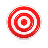 Target. Illustration of the target, isolated on the white Royalty Free Stock Images