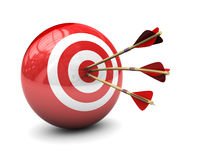 Target. Abstract 3d illustration of three arrows in target Royalty Free Stock Photo