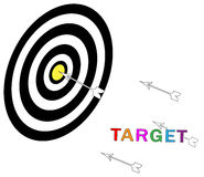 Target. Illustration of target of the board Royalty Free Stock Photos