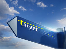 TARGET. Road sing for business marketing and financial concepts Stock Image