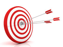 Target. Success concept. This is a 3D rendered picture Royalty Free Stock Photo