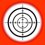 Target. Shooting range target with concentric circles Royalty Free Stock Images