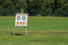 Target #2. Bow arrows in the center of a target Royalty Free Stock Photo