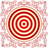 Target. Illustration decorated the target on a white background Royalty Free Stock Image
