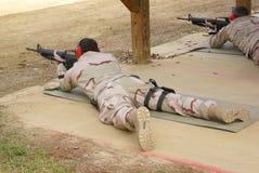 Target. Training target with m16 riflle Royalty Free Stock Image