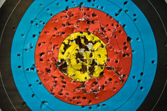 Target. Picture of arrow target practice bullseye royalty free stock image