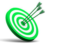Target. One target. 3d isolated object Stock Image