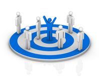 Target. (success on business concept Royalty Free Stock Images