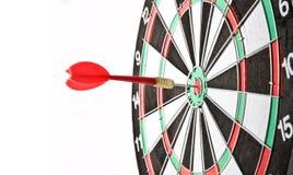 Target. Detail with dart on bullseye royalty free stock photo