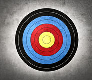 Target. Colored target for archery hanging at a wall Stock Photo