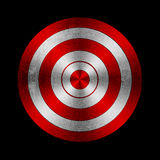 Target. Red target with grunge effect vector illustration