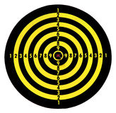Target. And an arrow, and a bull's eye Royalty Free Stock Image