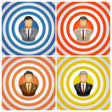Target. Vector illustration businessman on target Royalty Free Stock Photography