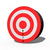 Target. A 3d target isolated against a white background Stock Photos