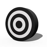 Target. A 3d target isolated against a white background Royalty Free Stock Photography