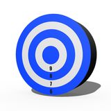 Target. A 3d target isolated against a white background Stock Image