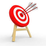 Target. 3d target and arrows. 3d render Royalty Free Stock Photos