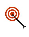 Target. Isolated target illustration / clip art Stock Photos