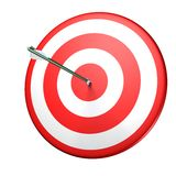 Target. Circle red target with arrow Royalty Free Stock Photography