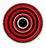 Target!. Illustration of Target in red black and white Stock Photos