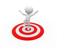 Target. 3d people - man, person and a target Royalty Free Stock Photo
