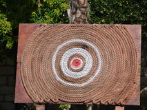 Target. Archery target made from rope Stock Image