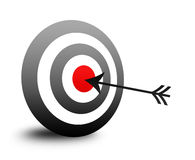 Target. Isolated red bull's eye target and arrow illustration / clip art isolated on white background Royalty Free Stock Image