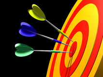 Target. Arrows in target Royalty Free Stock Photos