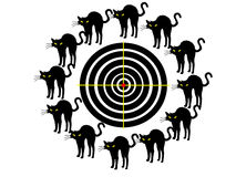 Target. Black Target on transparent background Royalty Free Stock Photo