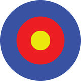 Target. Illustration of a target -aim Royalty Free Stock Image