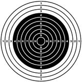 Target. Illustration of a shooting target Royalty Free Stock Photo