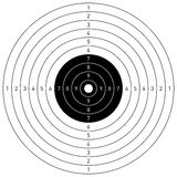 Target. Vector target isolated on white Royalty Free Stock Photography
