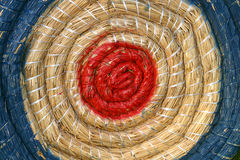 Target. Archery target with blue and red ring Royalty Free Stock Photography